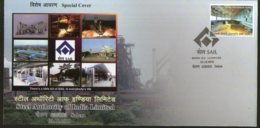 India 2018 Steel Authority Ltd. SAIL Industry Mineral Special Cover # 18429 - Factories & Industries