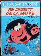 BD GASTON - R4 - En Direct De Lagaffe - EO 1974 Dos Rond - Gaston