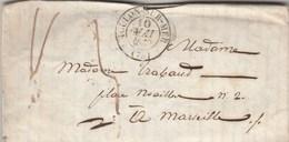 Lettre TOULON Sur Mer Var 10/5/1839 Taxe Manuscrite à Marseille Avec 2 Lettres Jointes Voir Description Hyères - Storia Postale