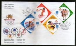 Sri Lanka 2004 Athens Olympic Games Swimming Shooting Sport Sc 1481-84 FDC # 6903 - Summer 2004: Athens