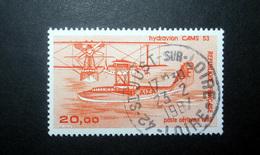 FRANCE POSTE AÉRIENNE 1985 N°58 OBL. (AVIATION CIVILE DE L'ENTRE-DEUX-GUERRES. HYDRAVION CAMS 53. 20,00 ORANGE) - Poste Aérienne