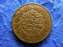 TUNISIA 2 KHARUB 1289/1872, KM174 - Tunisie