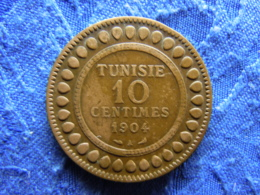 TUNISIA 10 CENTIMES 1322/1904, KM229 - Tunisie
