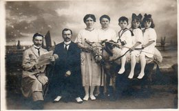 93St  Carte Photo Montage Surrealisme Famile Plage Ane Blanckenberghe Photo Du Pier O. Houtart Laureys - Blankenberge