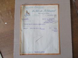 """GRAND-LEMPS ISERE LES FILS DE A. CHARREL MANUFACTURE DE CHAUSSURES """"AU FELIN"""" FACTURE DU 12 SEPTEMBRE 1924 - Frankreich"""