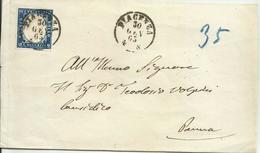 AS172-Sovracoperta Con 15 Cent. Effigie 30.01.1863 - Filo A Dx - Bella - Sardaigne