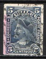 CILE - 1900 - EFFIGIE DI CRISTOFORO COLOMBO - USATO - Cile