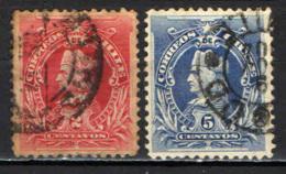 CILE - 1901 - EFFIGIE DI CRISTOFORO COLOMBO - USATI - Cile