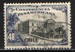 CILE - 1923 - PALAZZO DEI CONGRESSI PANAMERICANI - USATO - Cile