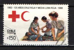 CILE - 1988 - CROCE ROSSA E MEZZALUNA ROSSA - 125° ANNIVERSARIO - USATO - Cile
