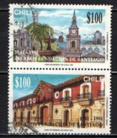 CILE - 1991 - SANTIAGO DEL CILE - 450° ANNIVERSARIO DELLA FONDAZIONE - USATI - Cile