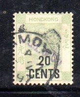 XP4690 - HONG KONG 1885, Yvert  N. 54  Usato . Filigrana  CA - Hong Kong (...-1997)