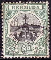 BERMUDA 1903 1/2d Black & Green SG31 Used - Bermuda