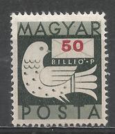 Hungary 1946. Scott #766 (M) Dove And Letter * - Hongrie