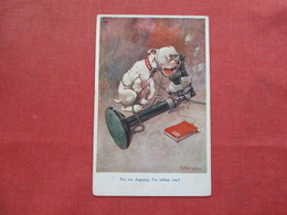 Signed Artist  Dog On Telephone I'm Not Arguing I'm Telling You   Ref 3248 - Chiens