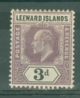Leeward Is.: 1902   Edward    SG24    3d     MH - Leeward  Islands