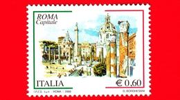 Nuovo - MNH - ITALIA - 2008 -  Roma Capitale - Fori Imperiali, A Roma  - 0,60 € - 1946-.. République