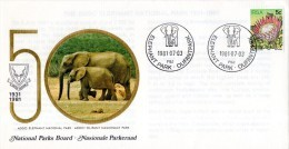 South Africa - 1981 50th Anniversary Of National Parks Board Elephant Cover - Elephants