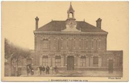 D78 - CHAMBOURCY - L'HÔTEL DE VILLE - Femmes/Enfant Et Hommes - Carte Sépia - Chambourcy