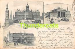 CPA LITHO 1899 AMSTERDAM DAM BEURS POST EN TELEGRAAFKANTOOR TRAM - Amsterdam