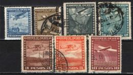 CILE - 1934 - AEROPLANI SULLA CITTA' ED AEROPLANI SUL GLOBO - USATI - Cile