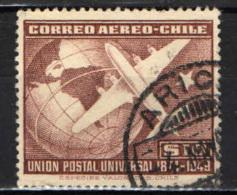 CILE - 1950 - 75° ANNIVERSARIO DELL'UPU - USATO - Cile