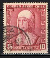 CILE - 1952 - 500° ANNIVERSARIO DELLA NASCITA DELLA REGINA DI SPAGNA ISABELLA I - USATO - Cile