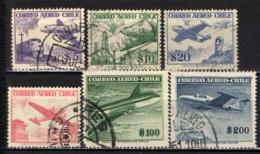 CILE - 1956 - AEREI ED IMMAGINI DEL CILE - USATI - Cile