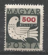 Hungary 1946. Scott #769 (M) Dove And Letter * - Hongrie