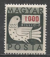 Hungary 1946. Scott #770 (M) Dove And Letter * - Hongrie