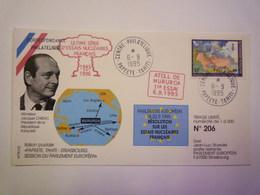 GP 2019 - 730  ATOLL De MURUROA  -  Ultime Série D'essais Nucléaires Français  6 SEPT 1995  (N°206 / 500)    XXX - Stamps