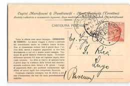 17281 MARCHESONI PAMBIANCHI MORI FERROVIA X LUGO - Storia Postale