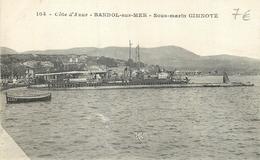 CP BANDOL-SUR-MER SOUS-MARIN GIMNOTE - Guerre