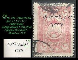 EARLY OTTOMAN SPECIALIZED FOR SPECIALIST, SEE...Mi. Nr. 749 - Mayo 99 AN - Auflagenanteil 1.700 Stück-R- - 1920-21 Anatolia