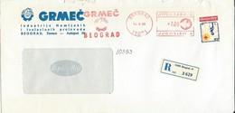 "Yugoslavia EMA Machine Stamp ,,Grmec Belgrade "" 1990 - Motive - Chemical Industry - 1945-1992 Repubblica Socialista Federale Di Jugoslavia"