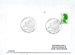 Lettre Cachet  Epinay Sur Seine Journee Europe - Marcophilie (Lettres)