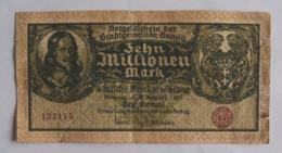 Deutsches Reich / Freie Stadt Danzig 10 Millionen Mark Notgeldschein - Duitsland
