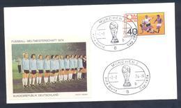 Germany 1974 Cover: Football Fussball Soccer Calcio Futbol: FIFA World Cup; Germany Team Label - Coupe Du Monde