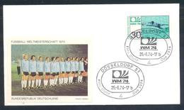 Germany 1974 Cover: Football Fussball Soccer Calcio Futbol: FIFA World Cup; Germany Team Label - Coppa Del Mondo