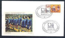 Germany 1974 Cover: Football Fussball Soccer Calcio Futbol: FIFA World Cup; Sweden Team Label - Coppa Del Mondo