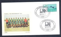 Germany 1974 Cover: Football Fussball Soccer Calcio Futbol: FIFA World Cup; Zaire Team Label - 1974 – West Germany