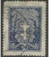 Lithuania - 1927 Lithuanian Cross 30c Used   SG 283 Sc 217 - Lithuania