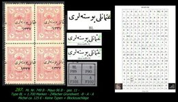 EARLY OTTOMAN SPECIALIZED FOR SPECIALIST, SEE...Mi. Nr. 749 - Mayo 96 BL- Plattenfehler -R- - 1920-21 Anatolie