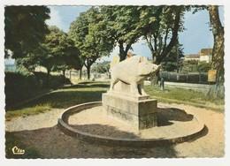 46 Gourdon N°1 Jardin Public Le Sanglier En 1976 Sculpteur Lavaysse - Gourdon