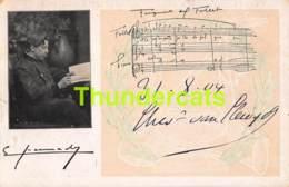 CPA MUSIQUE MUSIC COMPOSER PIANO SOCIEDAD ANONIMA CASA DOTESIO MADRID BILBAO SANTANDER BARCELONA - Musique Et Musiciens