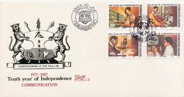BOPHUTHATSWANA - FDC 1987 - TESTA DI LEOPARD  -  INDIPENDENCE  -  COMMUNICATION - Bophuthatswana