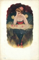 2 GLAMOUROUS LADIES By THE WHITE CITY ART Co ~ VINTAGE POSTCARDS #89946 - Pin-Ups