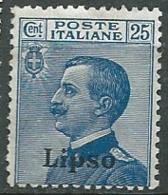 Italie - égée - Lipso - Yvert N° 6 *  -  Bce16332 - Egeo (Lipso)
