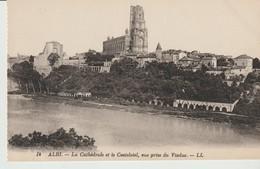 C.P.A. - ALBI - LA CATHÉDRALE ET LE CASTELVIEL - VUE PRISE DU VIADUC - L. L. - 14 - - Albi