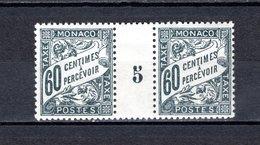 MONACO TAXE N° 21  MILLESIME 5   NEUF SANS CHARNIERE COTE 30.00€  TYPE DUVAL - Postage Due